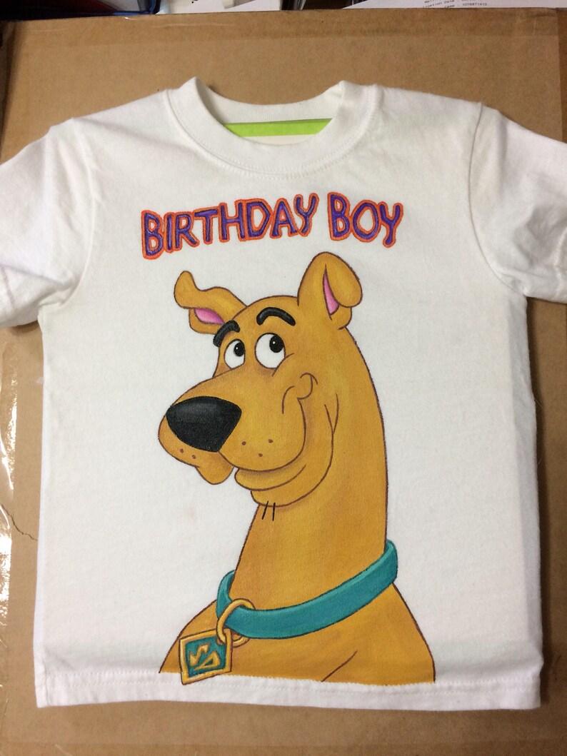 Custom Painted Disney Birthday Boy Shirt Tshirt Any Character