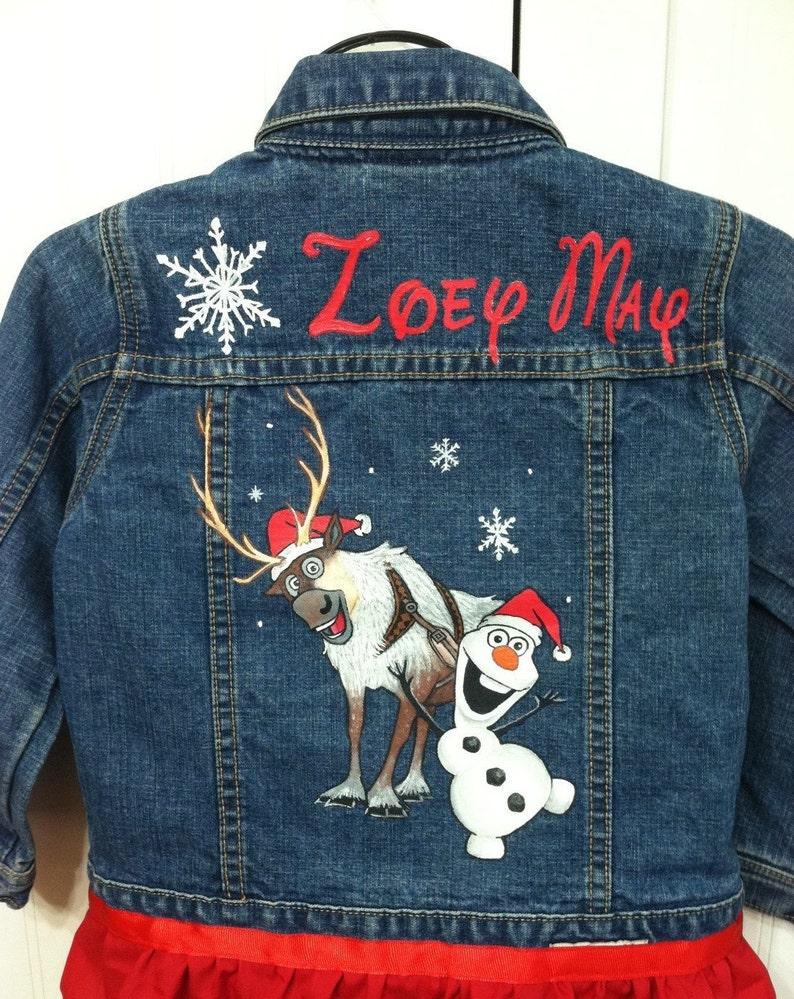 699fa3ba6 Encargo Navidad ropa pintada congelada 2 carácter Jean