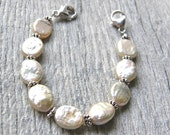 Champagne Pearl Medical ID Bracelet, Cream or Ivory Alert Bracelet, Sterling Silver Clasp Replacement Bracelet