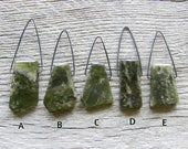 Extra Long Green Vesuvianite Pendant Sterling Silver Necklace - Choose Your Stone