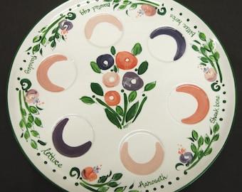Hand Painted Original Ceramic SEDER Plate for PASSOVER