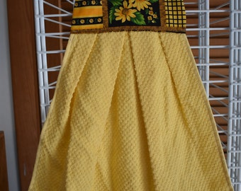 sunflower fabric top handtowel yellow