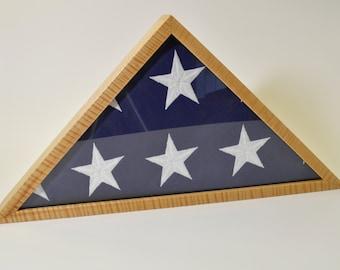 USA Flag Case - Tiger Strip Maple