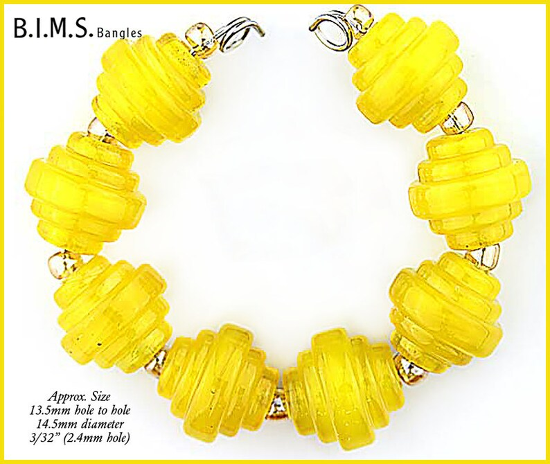 Bims Bangles green lampwork beads Made to Order Lampwork Bead Set Streaky Green Murano Glass Square Baroque lampwork beads
