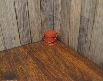 Dollhouse Miniature Firkin Bucket