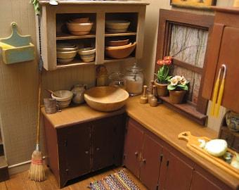 Dollhouse Miniature Lg Wooden Bowl Sir Thomas Thumb