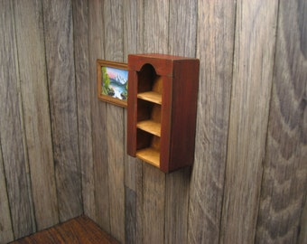 Dollhouse Miniature Cabinet Shelf
