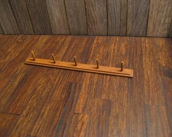 Dollhouse Miniature Peg Board Wall Rack