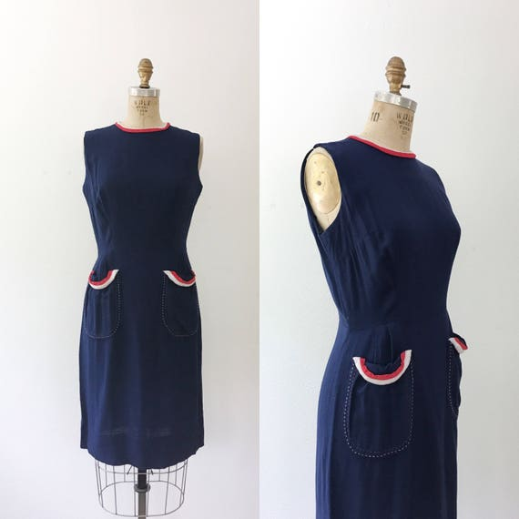 50s cotton dress / vintage 1950s dress / 50s Bunti