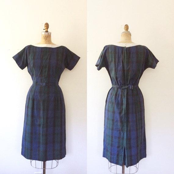 1950s plaid dress / 50s cotton dress / Straithorn