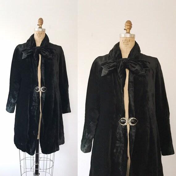 1920s velvet jacket / Silk Velvet Jacket / Ansonia
