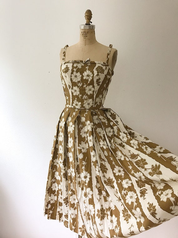 Trellis dress / 50s floral dress / 50s cotton dre… - image 7