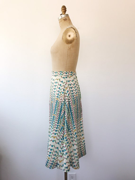 Tulip print skirt / vintage floral print skirt / … - image 6