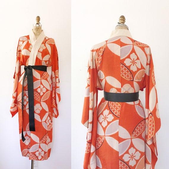 vintage kimono robe / vintage silk kimono / 1930s