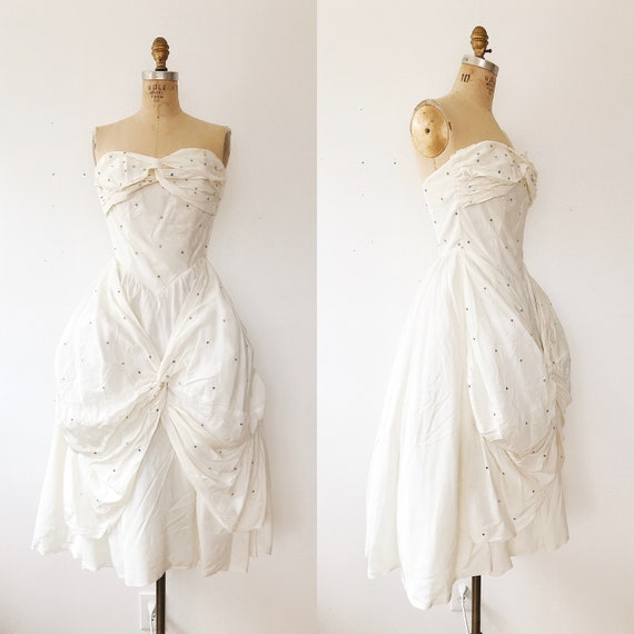 1950s dress / vintage wedding dress / Fabled Love