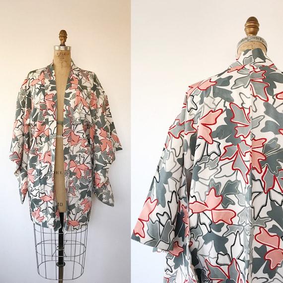 vintage silk kimono / vintage kimono jacket / Ochi