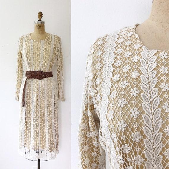 vintage lace dress / vintage silk dress / Amber si