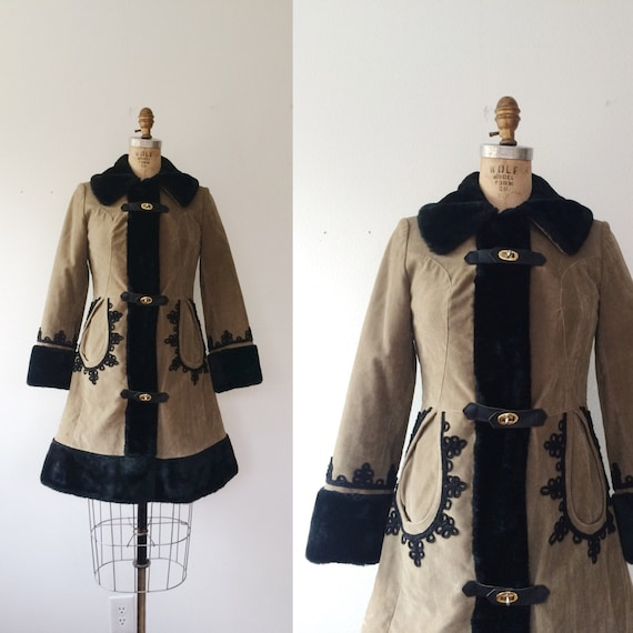 70s vintage coat / faux fur coat / Veruschka coat
