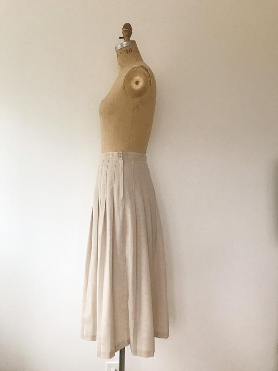pleated midi skirt / 80s vintage skirt / vintage … - image 5