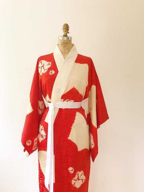 vintage kimono robe / vintage silk kimono / Shuir… - image 2