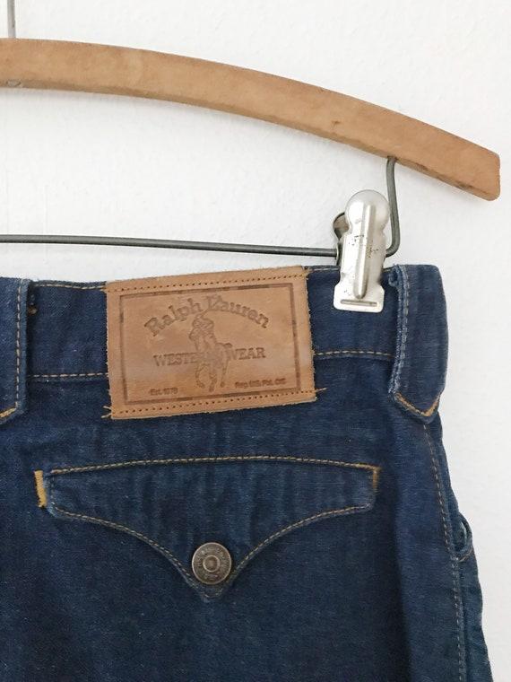 vintage denim skirt / Ralph Lauren Western wear /… - image 9