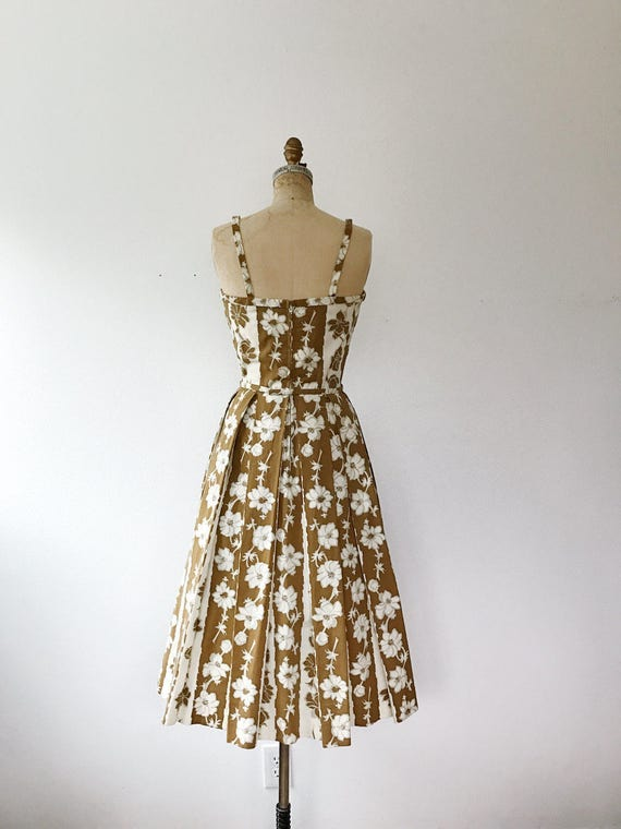 Trellis dress / 50s floral dress / 50s cotton dre… - image 5