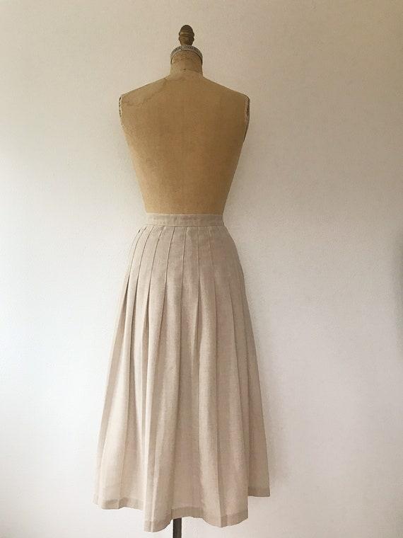 pleated midi skirt / 80s vintage skirt / vintage … - image 7