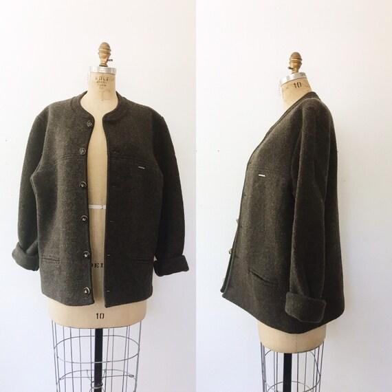 vintage outerwear sweater / vintage knit cardigan