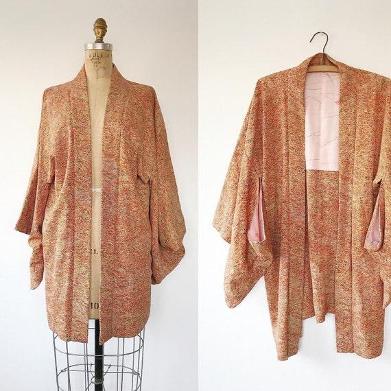 vintage silk kimono / vintage kimono jacket /Karas