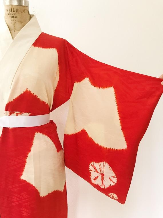 vintage kimono robe / vintage silk kimono / Shuir… - image 3