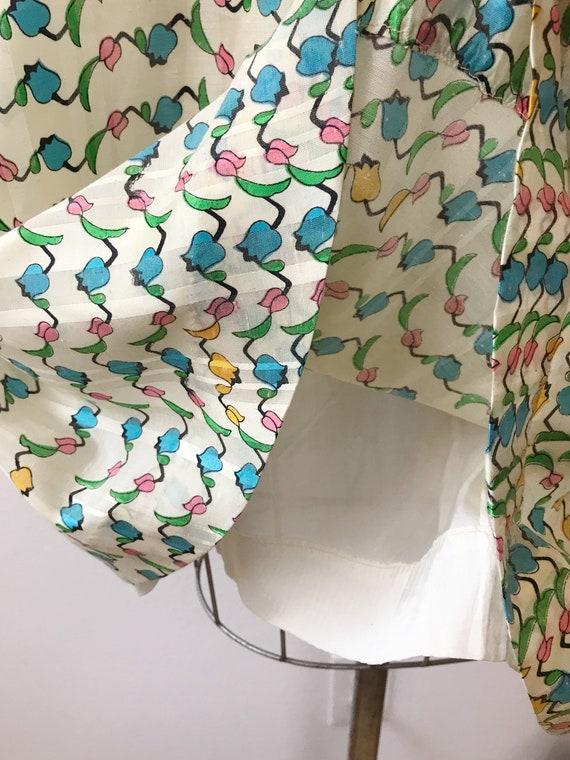 Tulip print skirt / vintage floral print skirt / … - image 5