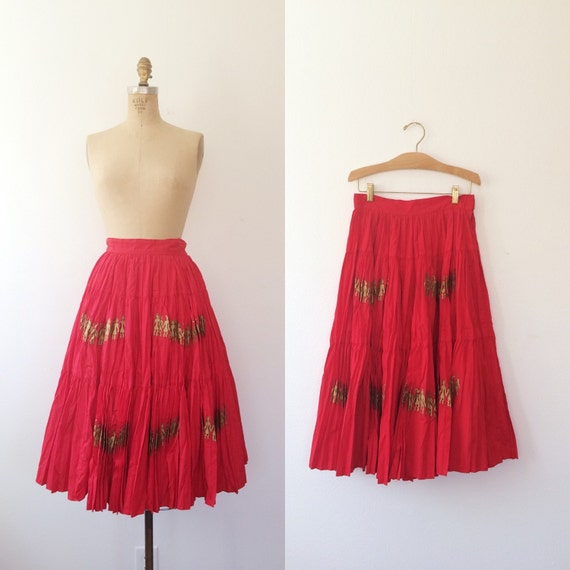 1950s skirt / 1950s circle skirt / Golden Kings sk