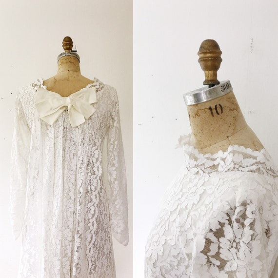 vintage wedding dress / lace wedding dress / Sidon