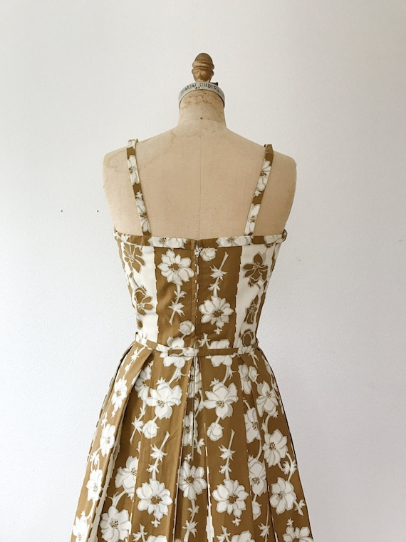 Trellis dress / 50s floral dress / 50s cotton dre… - image 4