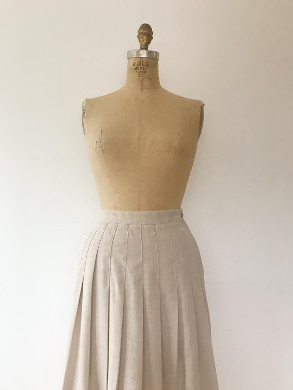 pleated midi skirt / 80s vintage skirt / vintage … - image 2