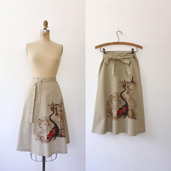 Dalena Wrap skirt / handpainted skirt / Texas skir