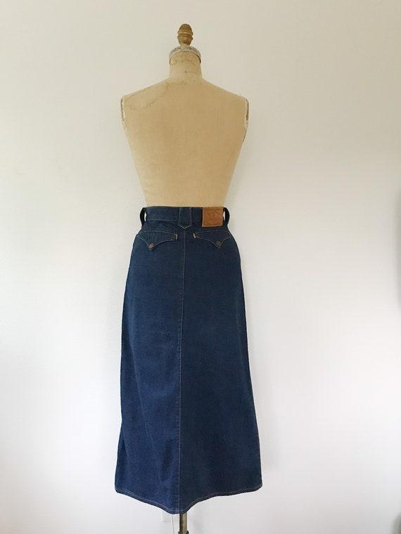 vintage denim skirt / Ralph Lauren Western wear /… - image 8