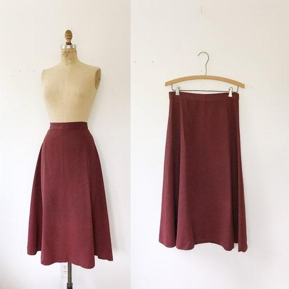 1940s skirt / vintage 40s skirt / 40s A-line Skirt