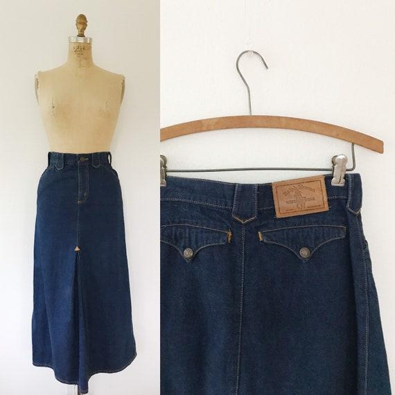 vintage denim skirt / Ralph Lauren Western wear /… - image 1