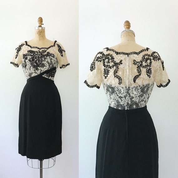 60s vintage dress / vintage lace dress / Spiderweb