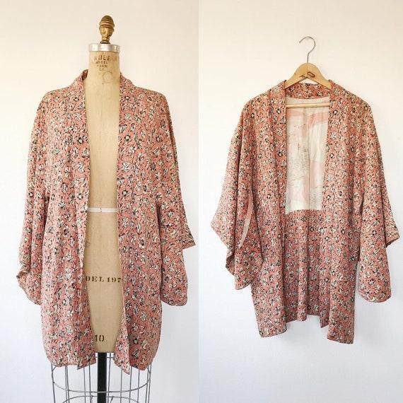 vintage silk kimono / vintage kimono jacket /Furaw