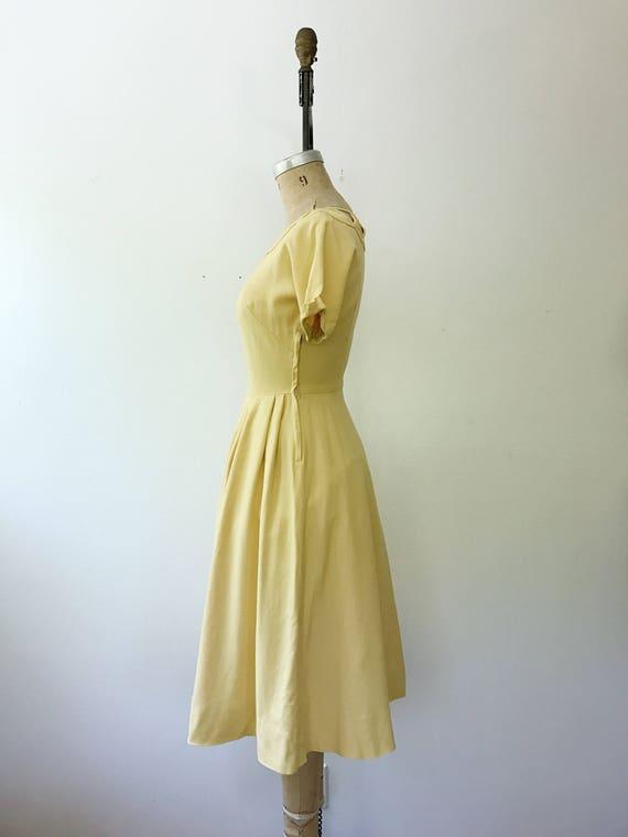 50s cotton dress / 1950s yellow dress / Cotton La… - image 3