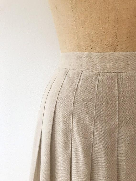pleated midi skirt / 80s vintage skirt / vintage … - image 3