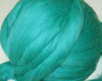 Merino Wool Roving - Turquoise Jade - 3 oz.