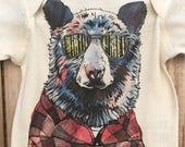 Hipster Bear Baby Onesie...