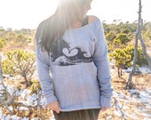 Love Wave on Boat Neck Sweatshirt