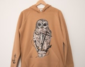 Owl and Anchor Unisex Pullover Hoodie