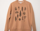 Tree Species of Vancouver Island Halibut Unisex Crewneck Sweater