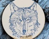 Orange Wolf Magnet