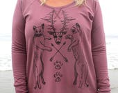 Cougar Crest and Arrows on Ladies Camper Shirt